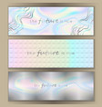 holographic web banner set vector image