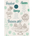 ice cream menu place mat food restaurant brochure vector image vector image