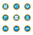 idiom icons set flat style vector image vector image