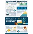 Investment Flat Color Infographic vector image