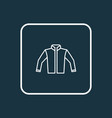 jacket outline symbol premium quality isolated vector image vector image