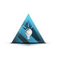 light bulb new idea concept web button vector image vector image