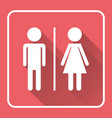 man and woman icon with long shadow modern flat vector image vector image