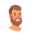 man head avatar beautiful human face male cartoon vector image