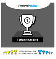 material 3d shadow paper icon an award trophy vector image