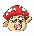 mushroom cartoon t-shirt design vector image