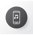 music application icon symbol premium quality vector image