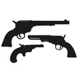Old american handguns vector image vector image