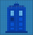 Old police box vector image