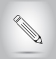 pencil icon on isolated background business vector image vector image