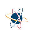 planet and orbit logo vector image vector image