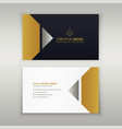 premium business card design in golden theme vector image
