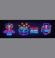 prizes collection neon sign gift neon sign vector image vector image