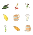 Pub icons set cartoon style vector image