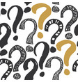 questions marks seamless pattern hand drawn vector image vector image