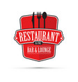 red restaurant design vector image vector image