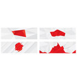 red texture triangle vector image vector image