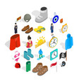 reference icons set isometric style vector image vector image