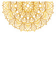 round gold mandala on white isolated background vector image