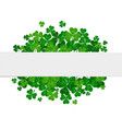 saint patricks day frame with green shamro vector image vector image
