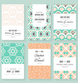 Save The Date card collection vector image