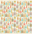 seamless pattern birthday candle vector image vector image