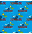 Seamless pattern Summer doodle postcard Hand vector image vector image