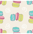 Seamless yammy macaron pattern vector image vector image