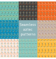 Set of 8 seamless ethnic aztec patterns