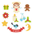 set of christmas icons set of christmas icons vector image vector image