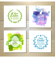 Set of easter watercolor decorative cards