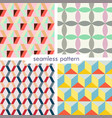 set of four seamless geometrical patterns 7 vector image vector image