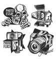 set photographer emblems labels badges logos vector image vector image