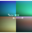 Smooth abstract colorful backgrounds set vector image vector image
