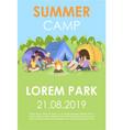 summer camp brochure template outdoor recreation vector image