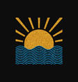 sun and sea logo vector image