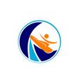 surf logo design template vector image vector image
