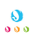 swan in circle abstract logo design vector image vector image