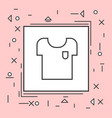 t-shirt icon thin line in pink frame vector image