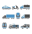 Transport Icons - A set of eighth vector image vector image