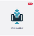 two color stars balloons icon from networking vector image