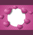 valentines day or wedding concept background vector image