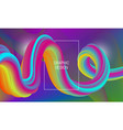 vibrant design background with liquid flow shape vector image vector image