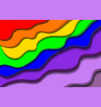 vibrant rainbow paper cut background vector image vector image