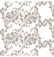 Vintage Spring floral damask pattern element vector image