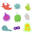 viruses and bacteria emoticon character set of vector image vector image