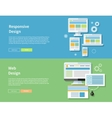 Web and Responsive Design vector image vector image