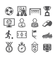 Soccer Icons vector image