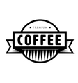 Vintage coffee logo or stamp vector image