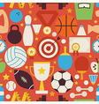 Sport Recreation and Competition Flat Red Seamless vector image
